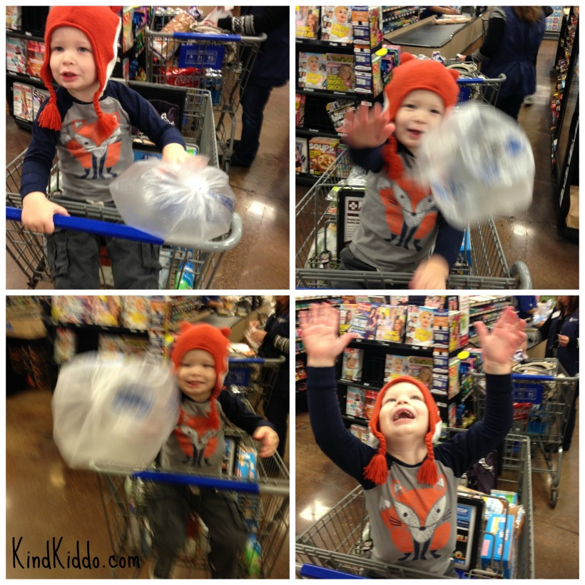 Kind Kiddo grocery store balloon collage