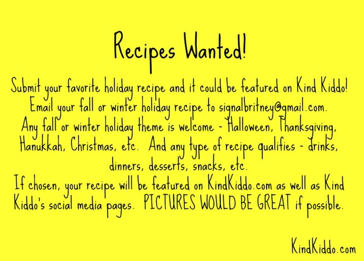 KK Recipes Wanted 2014