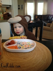 KK Rowdy eating as monkey