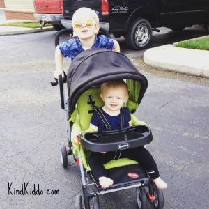 KK kids in stroller