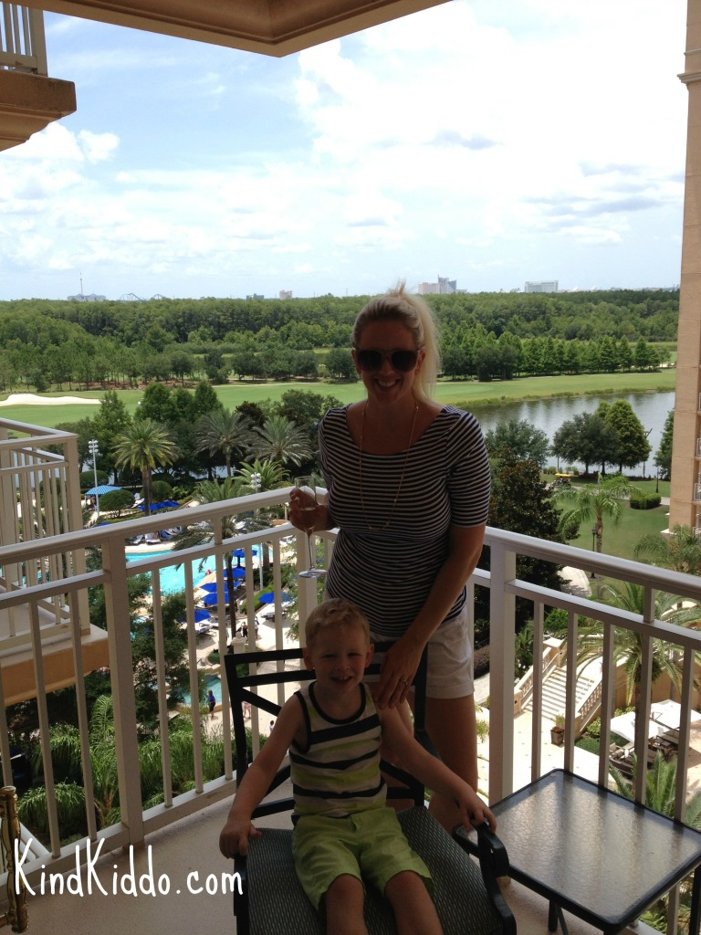 We had a great view of the pool area, the lake and the golf course.